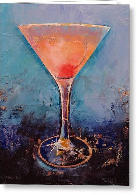 Lemonade Greeting Cards - Pink Lemonade Greeting Card by Michael Creese