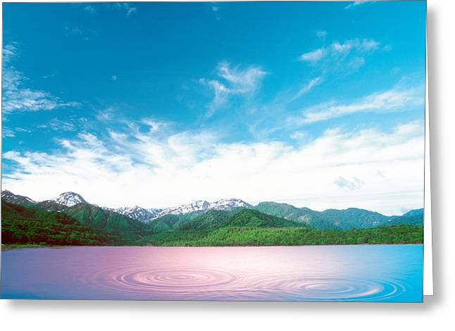 Away From It All Greeting Cards - Pink Light Cast Down On Two Rings Greeting Card by Panoramic Images