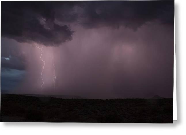 Arizona Lightning Greeting Cards - Pink Lightning Greeting Card by Cathy Franklin