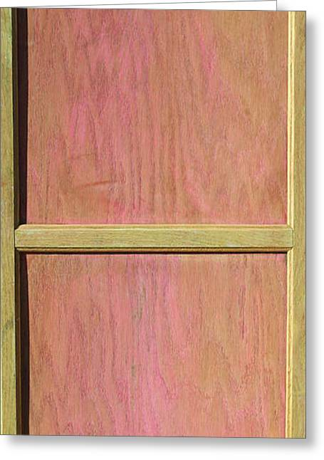 Mahogany Mixed Media Greeting Cards - Pink Mahogany Blush Cabinet Door Greeting Card by Asha Carolyn Young