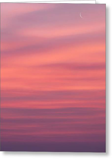 Heavenly Body Greeting Cards - Pink Moon Greeting Card by Bill  Wakeley