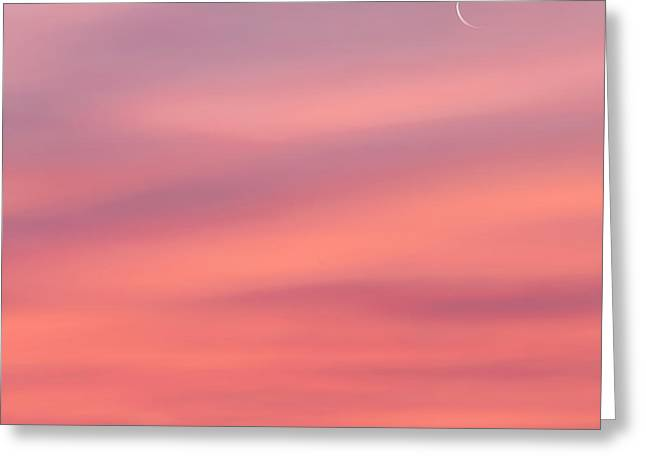 Heavenly Body Greeting Cards - Pink Moon Square Greeting Card by Bill  Wakeley