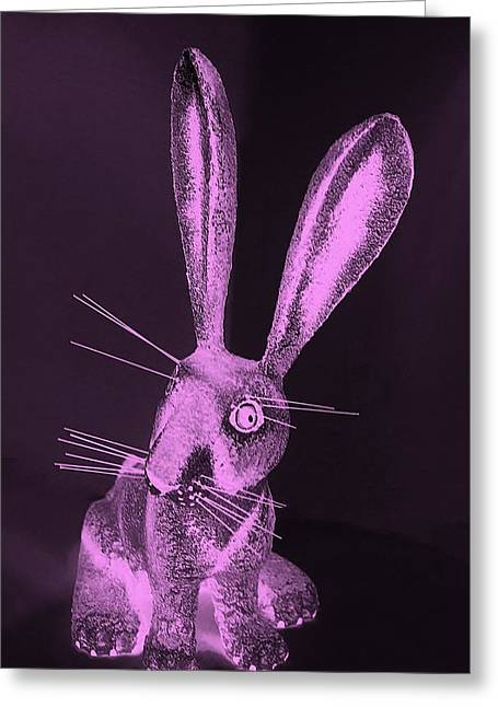 Bugs Bunny Greeting Cards - Pink New Mexico Rabbit Greeting Card by Rob Hans