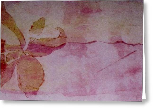work Reliefs Greeting Cards - Pink Orchid Greeting Card by Theresa Khong