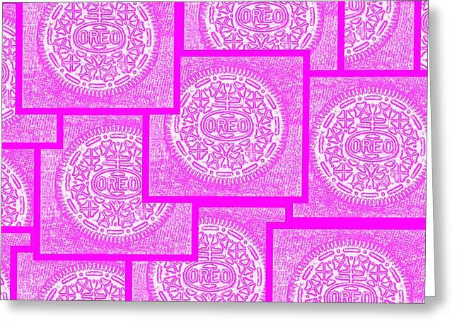 Oreo Greeting Cards - Pink Oreos For The Cure Greeting Card by Rob Hans