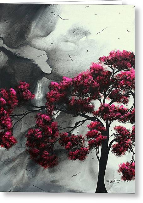 Crimson Greeting Cards - Pink Passion Original Painting MADART Greeting Card by Megan Duncanson