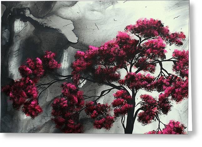 Pink Passion Original Painting MADART Greeting Card by Megan Duncanson