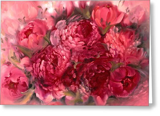 Dark Pink Greeting Cards - Pink Peonies Greeting Card by Melissa Herrin