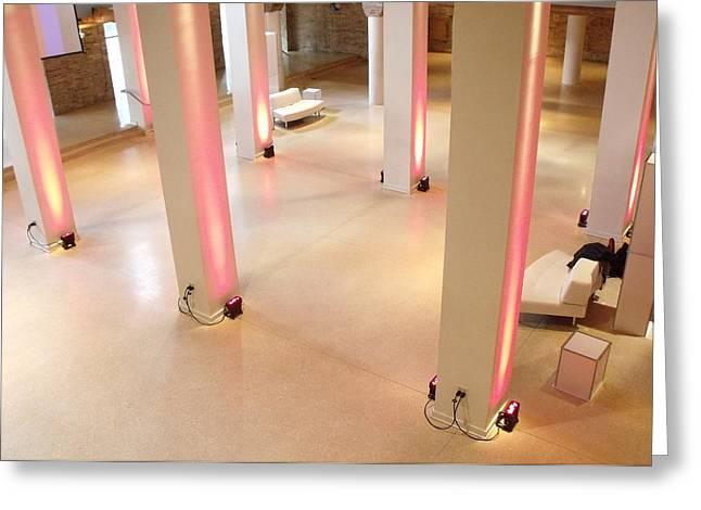 Anna Villarreal Garbis Greeting Cards - Pink Pillars I Greeting Card by Anna Villarreal Garbis