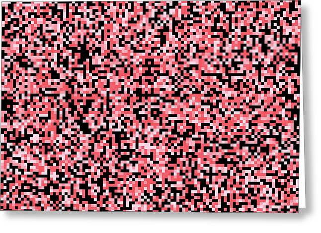 Pink Pixels Greeting Card by Mike Taylor