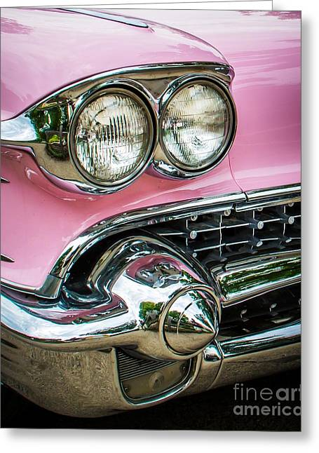 Pink Power Greeting Card by Perry Webster