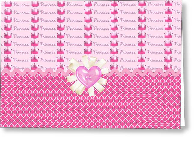 Daughter Gift Greeting Cards - Pink Princess Crowns Greeting Card by Debra  Miller