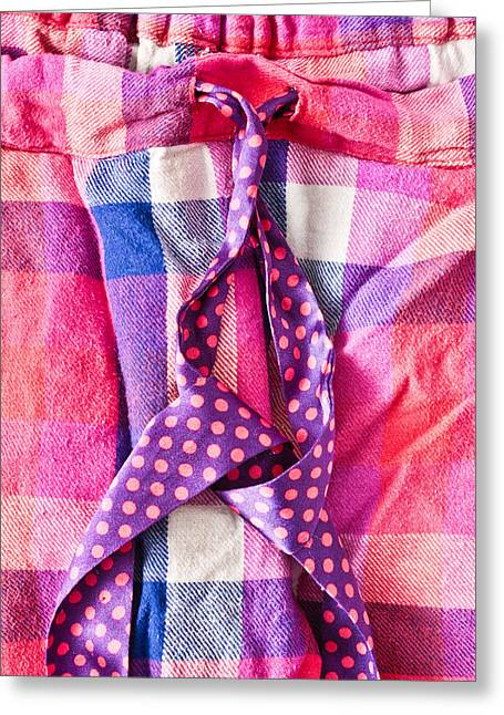 Weekend Photographs Greeting Cards - Pink pyjamas Greeting Card by Tom Gowanlock