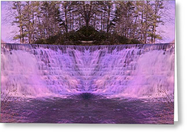Water Falling Down Rocks Greeting Cards - Pink Reflections Greeting Card by Betsy C  Knapp