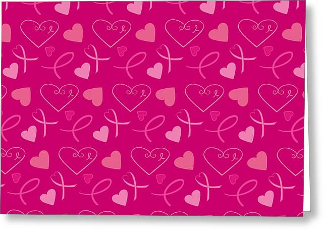 Breast Cancer Greeting Cards - Pink Ribbons  Greeting Card by Debra  Miller