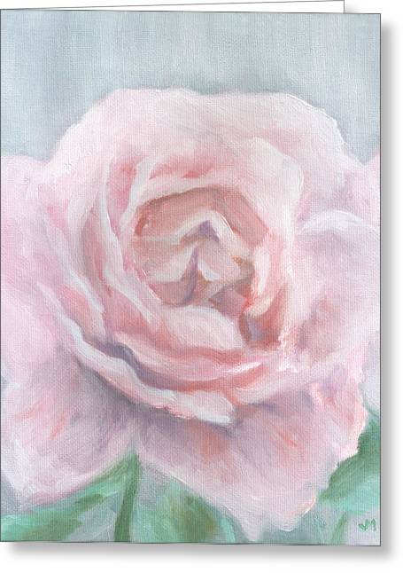 Ru Greeting Cards - Pink Rose Greeting Card by Joe Maracic