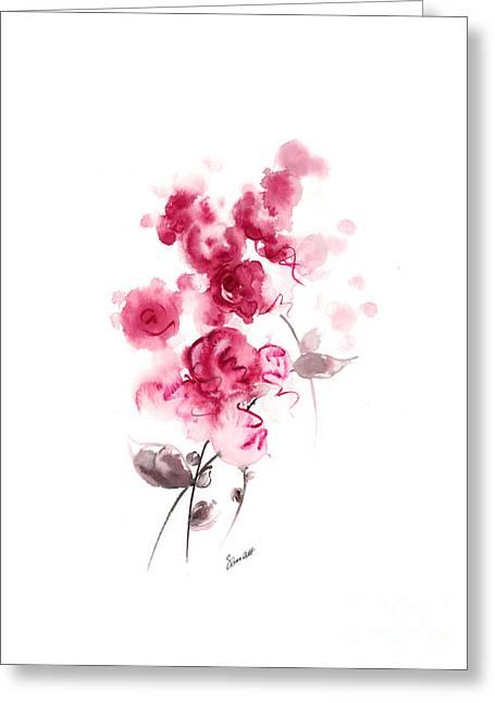 Pink Rose Greeting Card by Mariusz Szmerdt