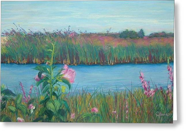 Ocean Scenes Pastels Greeting Cards - Pink Roses Greeting Card by Claire Norris