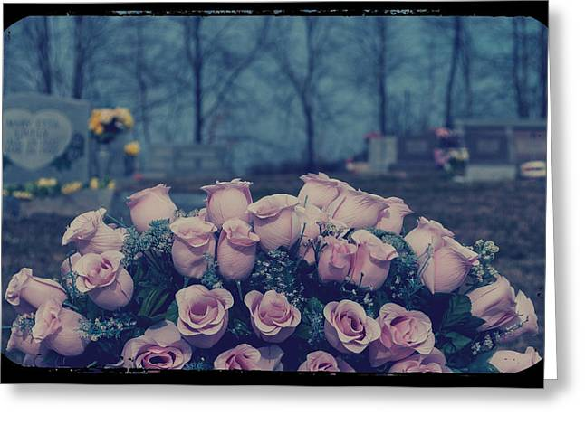 Indiana Roses Greeting Cards - Pink Roses Greeting Card by Melissa Wyatt