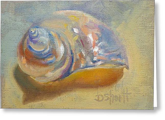 Donna Shortt Greeting Cards - Pink Shell Greeting Card by Donna Shortt