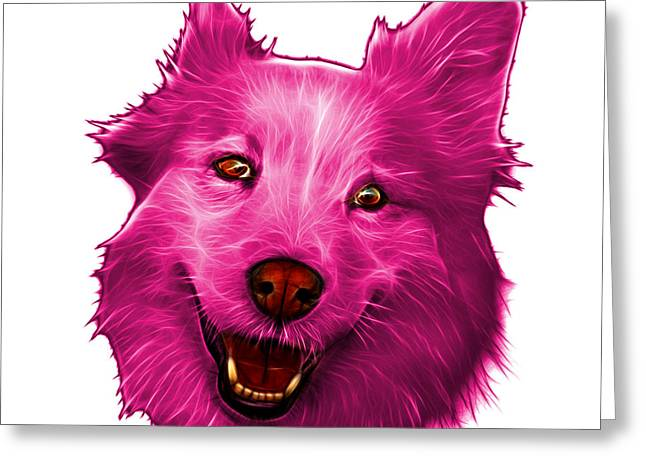 Mixed Labrador Retriever Greeting Cards - Pink Siberian Husky Mix Dog Pop Art - 5060 WB Greeting Card by James Ahn