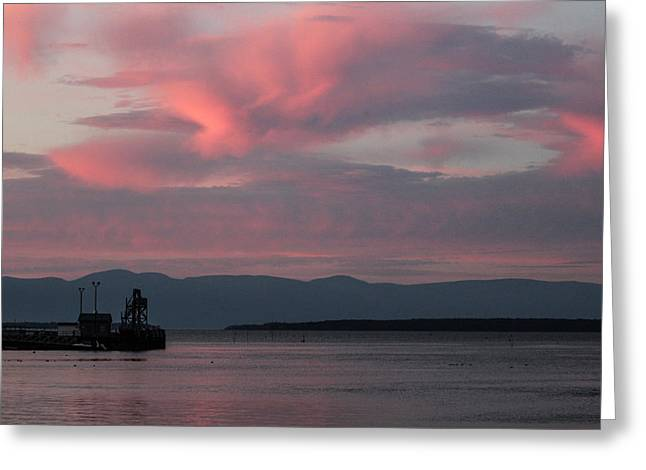 Saint-julien Greeting Cards - Pink Sky Greeting Card by Julien Boutin
