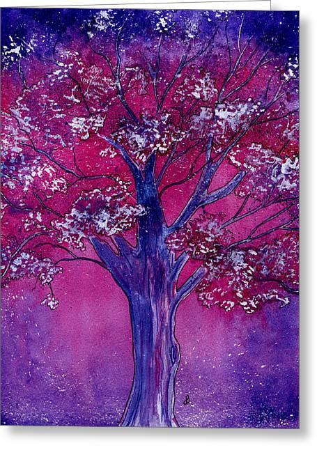 Maine Spring Paintings Greeting Cards - Pink Spring Awakening Greeting Card by Brenda Owen