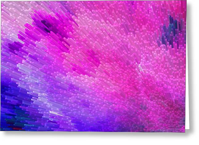 Celestial Digital Greeting Cards - Pink Star Dust Abstract Art By Sharon Cummings Greeting Card by Sharon Cummings