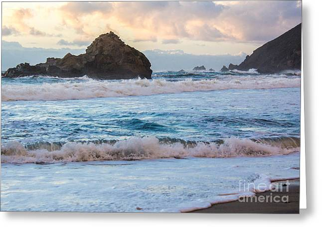 Big Sur Greeting Cards - Pink Sunset At Pfeiffer Beach Greeting Card by Suzanne Luft