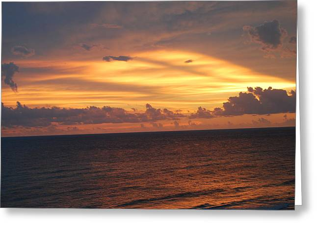 Panama City Beach Greeting Cards - Pink Sunset Greeting Card by Jennifer Blackstock Lee