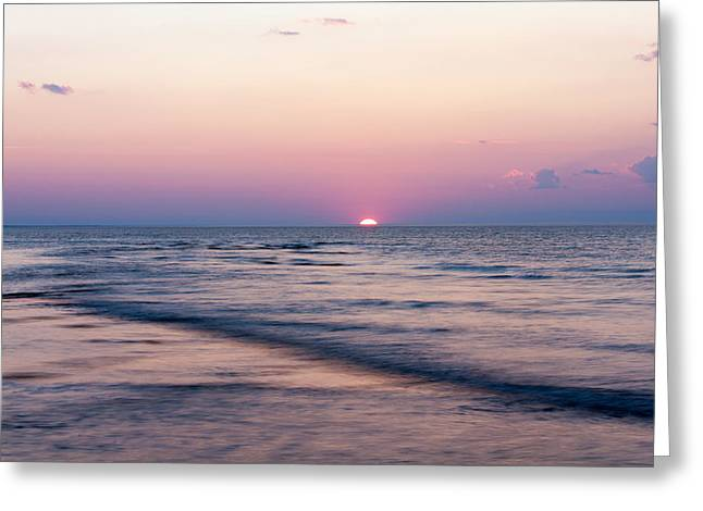 Atlantic Beaches Greeting Cards - Pink Sunset Greeting Card by Matt Dobson