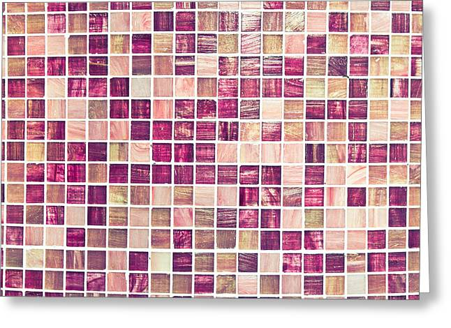 Filter Art Greeting Cards - Pink tiles Greeting Card by Tom Gowanlock
