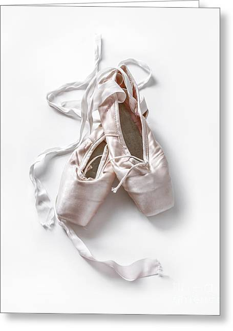 Ballet Shoes Greeting Cards - Pink Toe Shoes Greeting Card by Diane Diederich