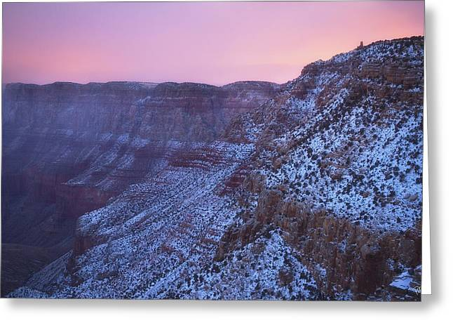 Watch Tower Greeting Cards - Pink Tower Greeting Card by Peter Coskun