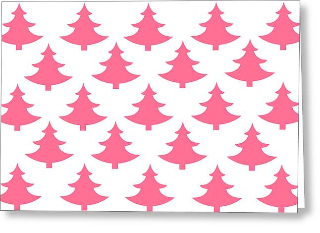Spur On Greeting Cards - Pink Trees Greeting Card by Chastity Hoff