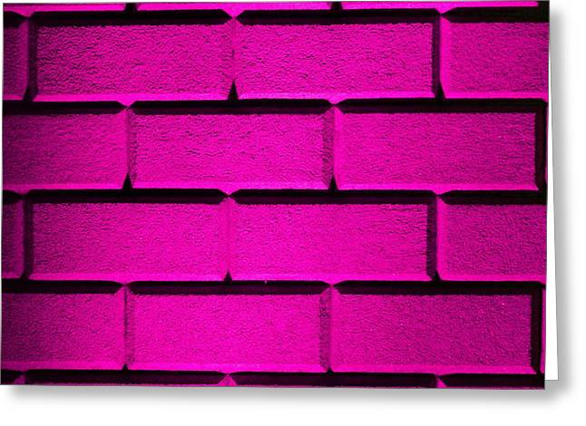 Geometric Effect Photographs Greeting Cards - Pink Wall Greeting Card by Semmick Photo