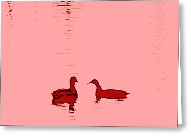 pink water Greeting Card by Hilde Widerberg