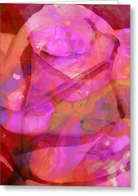 Rose Prints Greeting Cards - Pink Wow - Rose Art By Sharon Cummings Greeting Card by Sharon Cummings