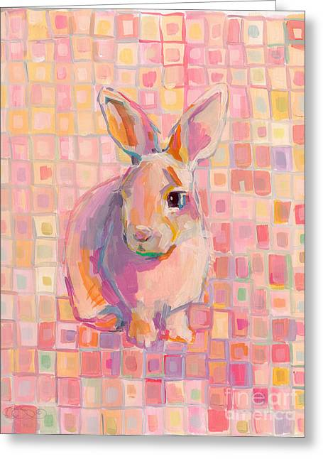 Lavendar Greeting Cards - Pinky Greeting Card by Kimberly Santini