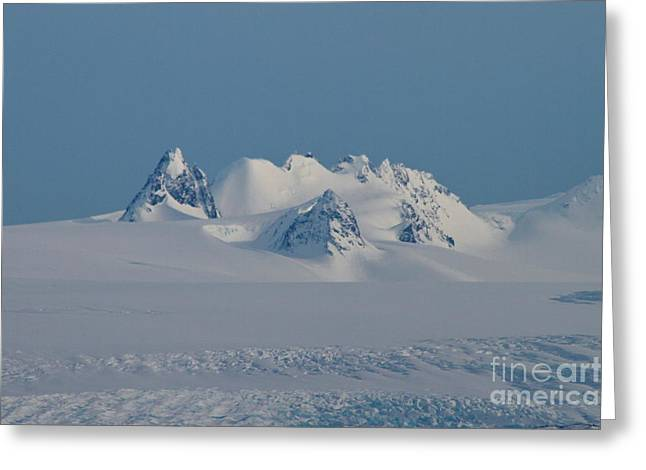Snow Scape Greeting Cards - Pinnacle Greeting Card by Rick  Monyahan