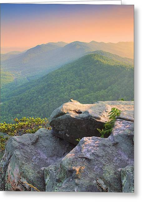 Recently Sold -  - Log Cabins Greeting Cards - Pinnacle Rock Greeting Card by Mary Almond