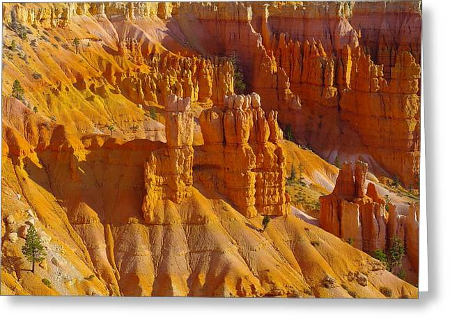 Boulder - Rock Greeting Cards - Pinnicles At Sunset Point Bryce Canyon National Park Greeting Card by Jeff  Swan