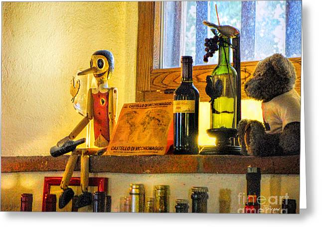 Chianti Digital Art Greeting Cards - Pinocchio All Grown Up Greeting Card by Jennie Breeze