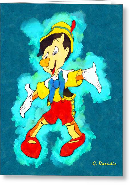 Pinocchio Greeting Card by George Rossidis
