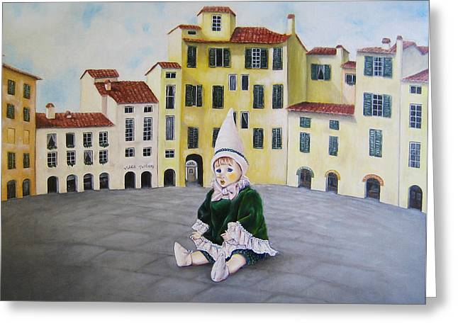 Pinocchio Greeting Cards - Pinocchio - Memory of Tuscany Greeting Card by Junko Van Norman