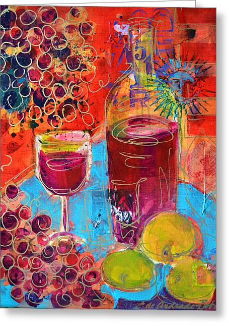 Red Wine Prints Greeting Cards - Pinot Noir Greeting Card by Filomena Booth