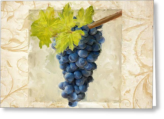 Pinot Paintings Greeting Cards - Pinot Noir II Greeting Card by Lourry Legarde