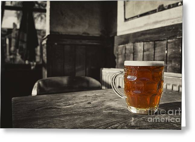 Amber Beer Greeting Cards - Pint in a Jug  Greeting Card by Rob Hawkins