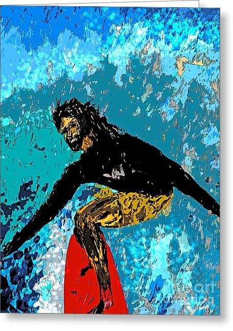 Surfer Art Greeting Cards - Pintail Greeting Card by Everette McMahan jr