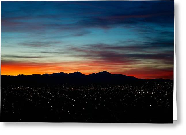 Sunset Posters Greeting Cards - Pintler Sunset  Greeting Card by Kevin Bone